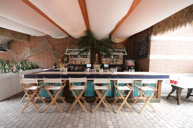 Canopy bar at Gilligan's
