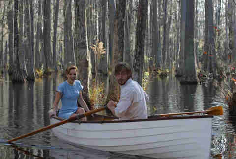 Scene from The Notebook with Ryan Gosling and Rachel McAdams
