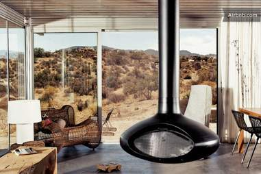 off-grid house living room