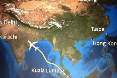 singapore airlines meal turbulence map