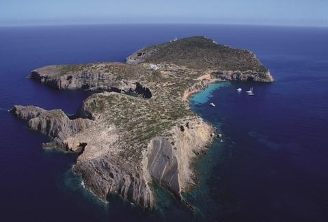Tagomago Island, private, Ibiza, Spain, lighthouse, La Casa