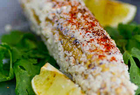 People's Food Truck - wood-roasted corn on the cob w/ mayonnaise, cotija, chile + lime