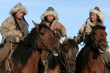Mongolian horseback riders