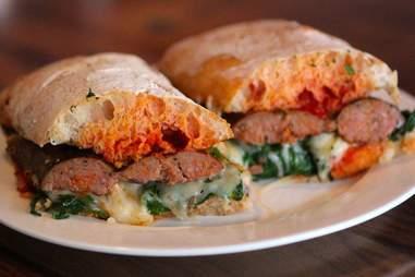 tinello italian sausage sandwich