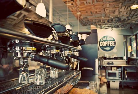 The machines at Oak Lawn Coffee