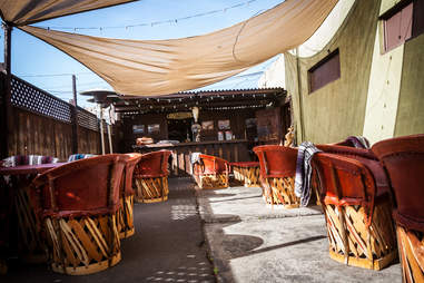 Cantina Mayahuel outdoor patio area san diego