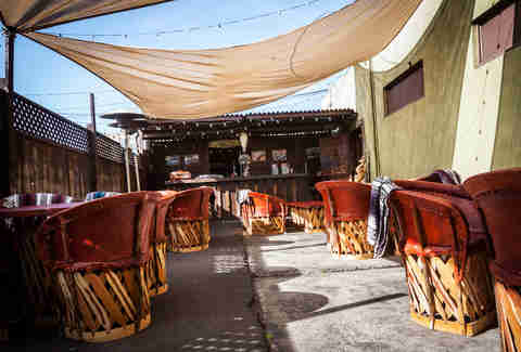 Cantina Mayahuel outdoor patio area san diego