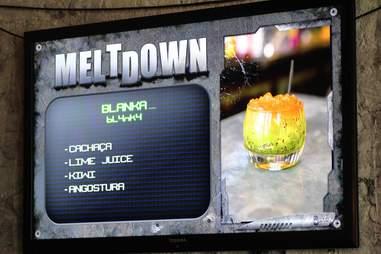meltdown menu