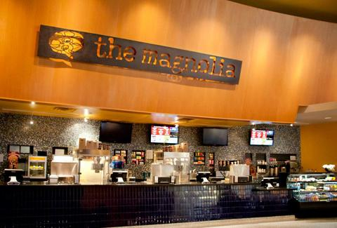 The concessions bar at The Magnolia Theater