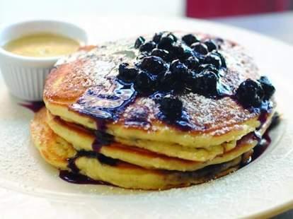 Clinton St Baking blueberry pancakes