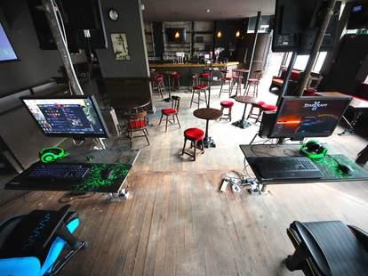 Meltdown London interior gaming area