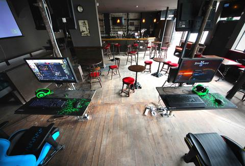 Meltdown London interior gaming area