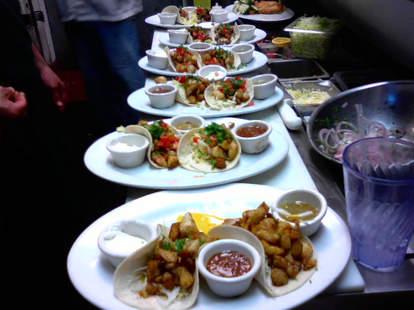 Tacos at Hi Dive Bar