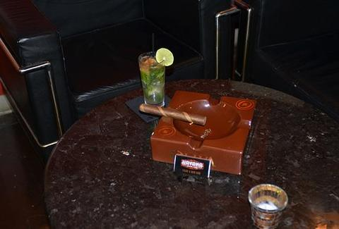 A cigar and a mojito at Havana Social Club