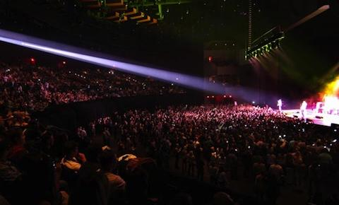 Ovation Hall stage, lights, audience