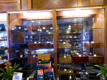The glass case at Up in Smoke