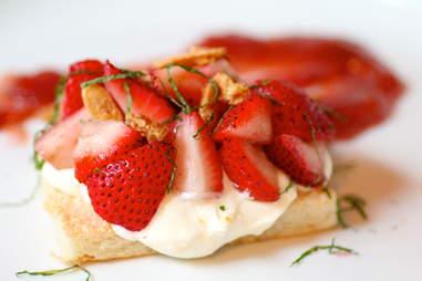 Strawberry shortcake station