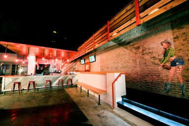 Interior of Bourbon Girl in Austin, TX
