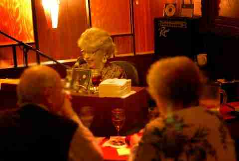 Woman playing piano at Nye's Polonaise in Minneapolis