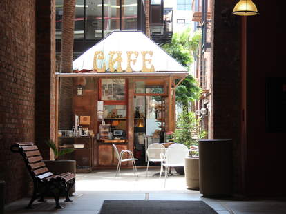 A hidden view of the Jackson Place Cafe