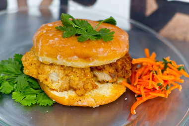 The Sublime chicken and donut sandwich from People's Food Truck