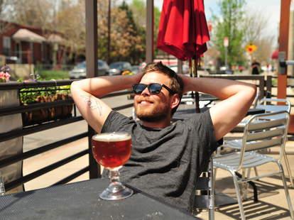 A bro enjoying a beer on the BDOYL