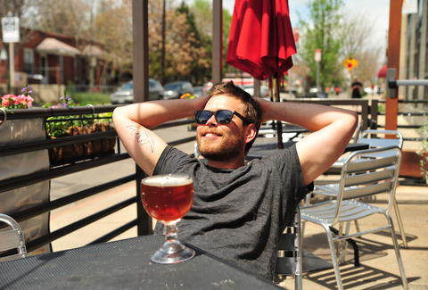 A bro enjoying a beer on the BDOYL