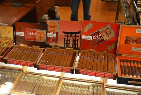 Cigar selection at Phildealphia's holt's cigars