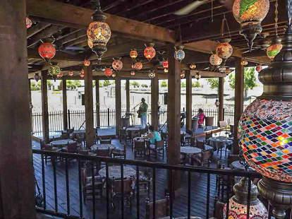 Patio at Turkish Cafe & Lounge, Plano TX