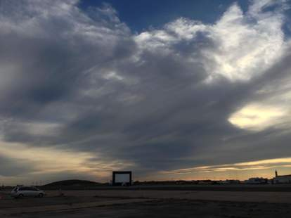 The view of the sky from Blue Starlite Mini Urban Drive-In