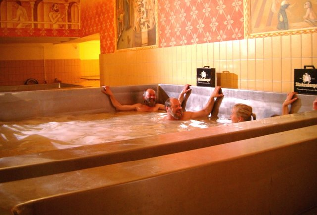 An Austrian brewery castle where you can literally swim in beer