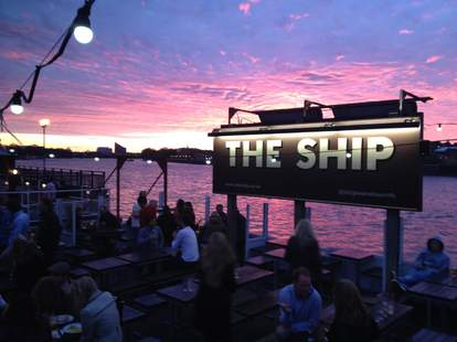 The Ship outdoor patio on the Thames