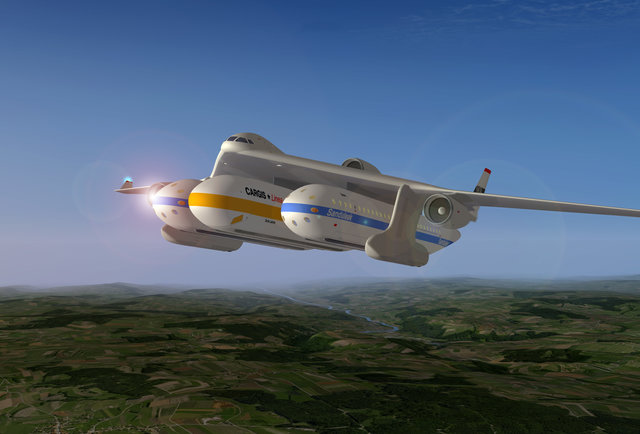 The future of air travel: flying trains??
