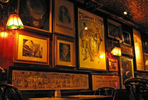 The Irish Pub, Atlantic City, bar, beer, vintage posters