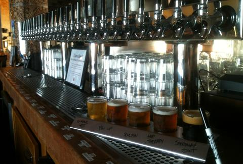 Beer taps at San Diego Brew Project