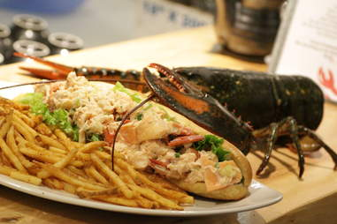 Footlong Lobster Roll with cooked lobster