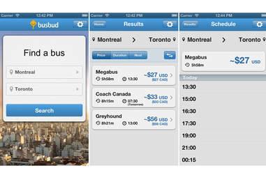 Busbud iPhone app