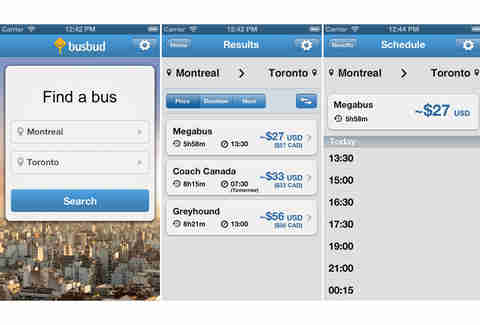 Busbud iPhone app