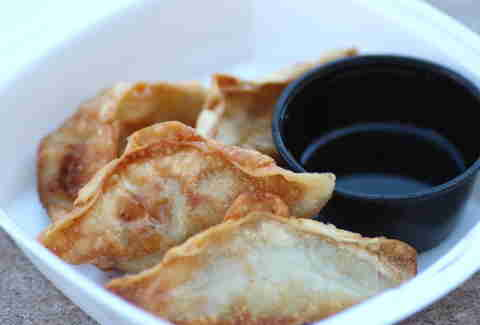 Gogi Bros Korean BBQ food truck in the Twin Cities potstickers