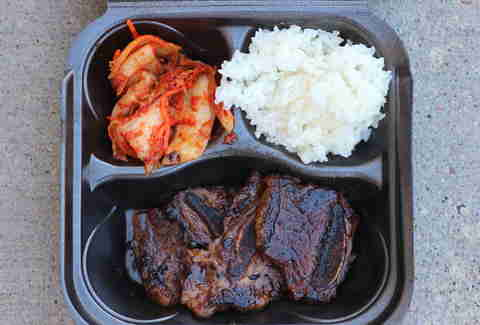 Gogi Bros Korean BBQ food truck in the Twin Cities galbi (short ribs)