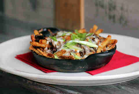 Loaded fries at Old Fifth in the West Loop