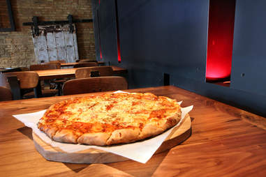 Double decker pizza at Old Fifth in the West Loop