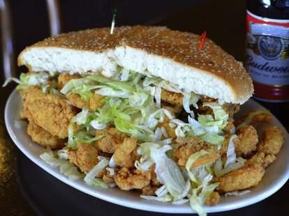 New Orleans, Parran's, Seafood Po Boy, Muffuletta