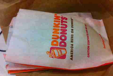 Dunkin' Donuts Bags