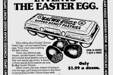 Dunkin' Donuts Easter Eggs