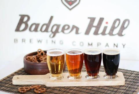 row of Badger Hill beers