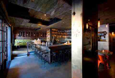 Craft & Commerce-San Diego-Inside of bar there is wood and metalwork