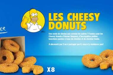 Homer Simpson Cheesy Donuts