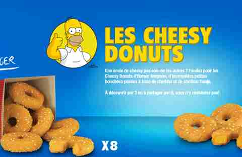 Homer Simpson Cheesy Donuts