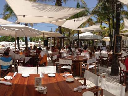 Nikki Beach outdoor seating